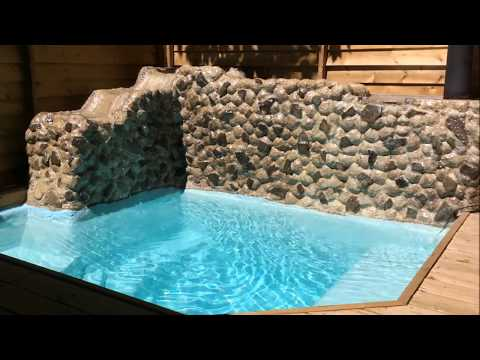 Wood Deck & Small Inground Pool  - Concrete & Epoxy DIY HomeMade