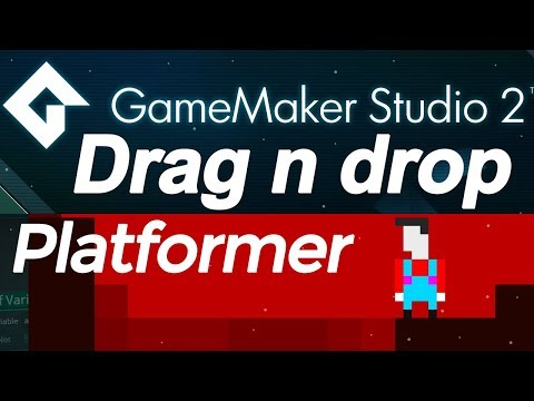 Game Maker Studio 2: Platformer drag and drop tutorial DnD - jumping physics