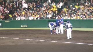 阪神 原口 文仁 『高校球児のように脱帽しての謝罪が最高!!』 vs 中日 2017年5月17日甲子園