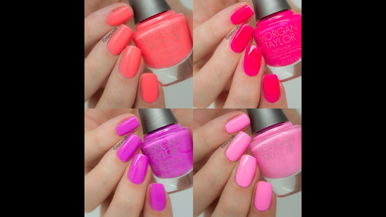 Nail Colors Youtube: Morgan Taylor Hello Pretty Live Swatches