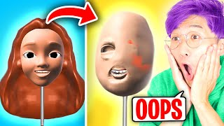 Can We SCULPT PEOPLE While BLINDFOLDED In This FUNNY iPHONE APP? (LANKYBOX FAIL MOMENTS!)