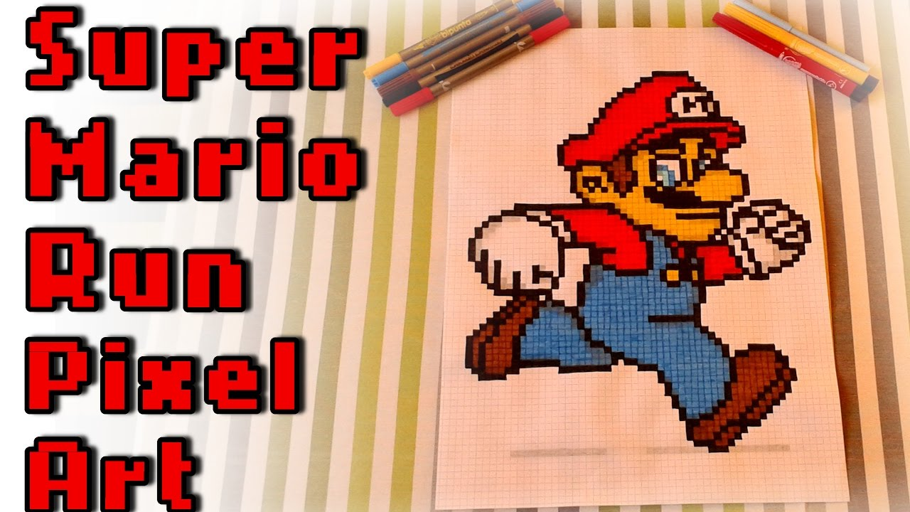 Super Mario Run Pixel Art Speed Drawing By Lucy