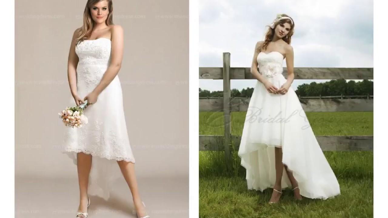 High Low Wedding Dresses Plus Size