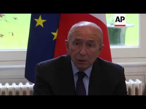 French interior minister meets staff in wake of Paris knife attack