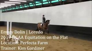 Emmy Dolin and Loredo NCAA Equitation on the Flat January 2019