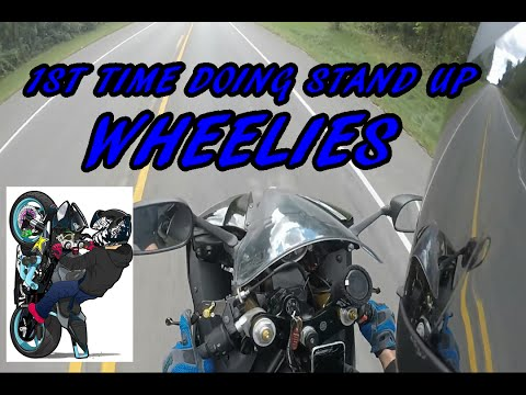 FIRST TIME DOING STAND UP WHEELIES