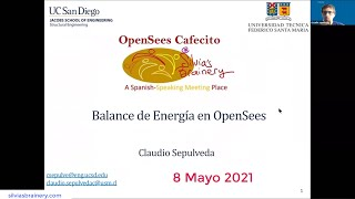 OpenSees Cafecito @ Silvia's Brainery -- 8 May 2021