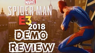 Spider-Man PS4 E3 2018 Full Demo Review (Web Swinging, Combat, Map Size, Etc.)