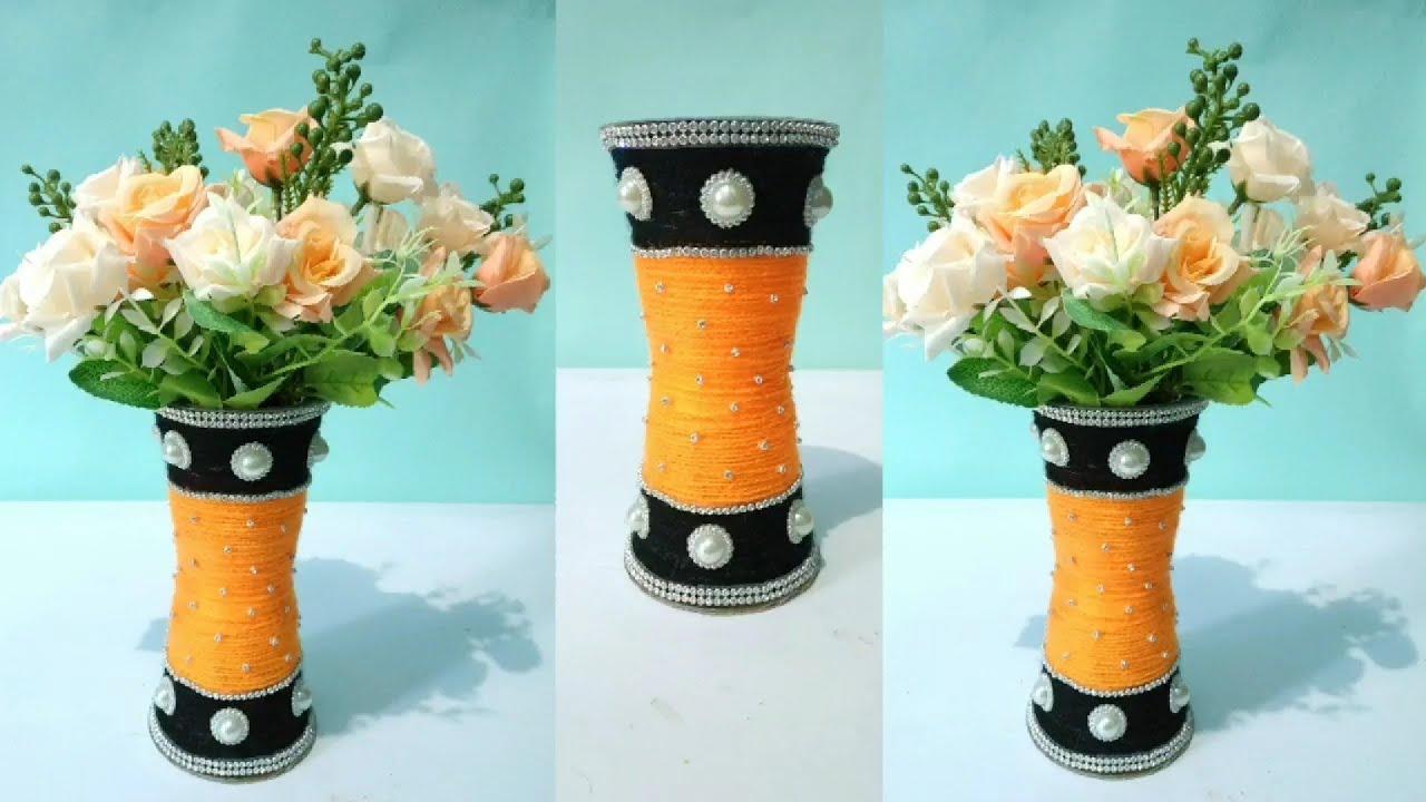 Ide Kreatif Cara Membuat Vas Bunga Dari Gelas Plastik How To Make Plastic Glass Flower Vase Youtube
