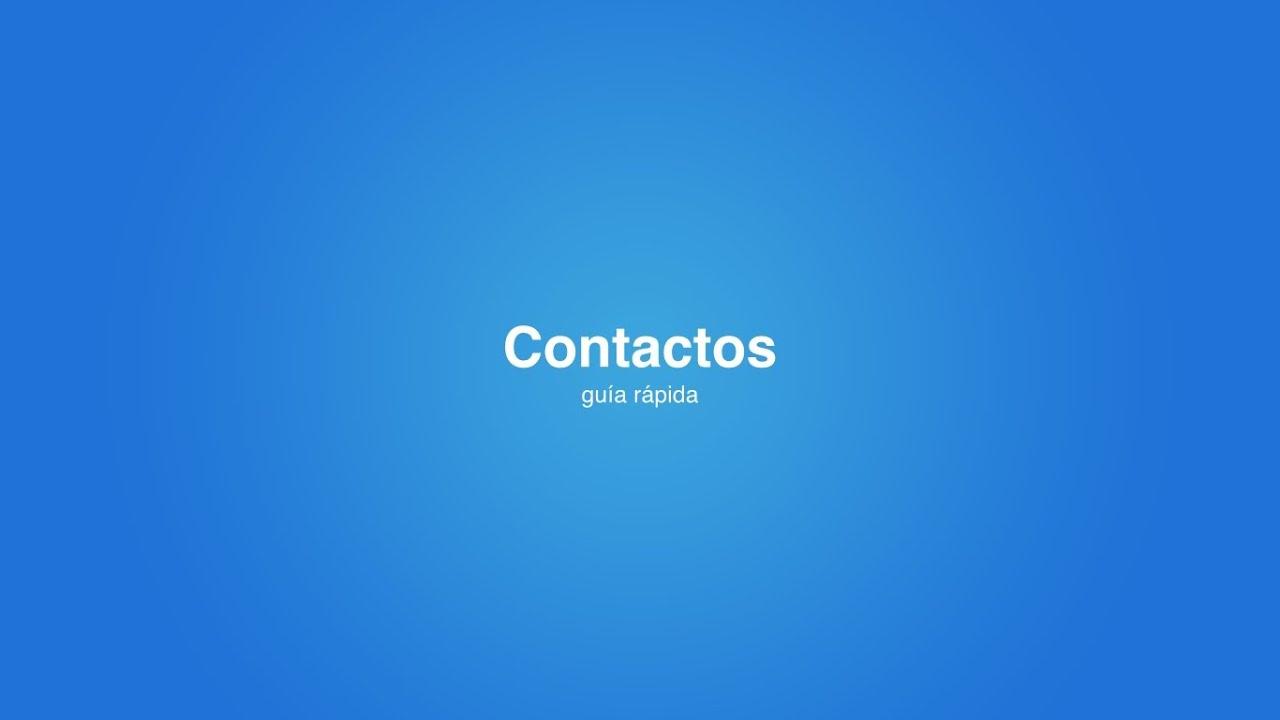 (FT) Contactos - Guía Rápida