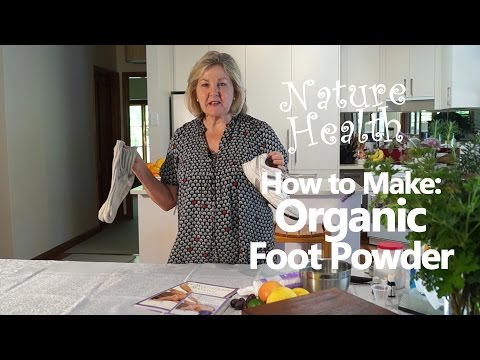 How to make Organic Foot Powder to eliminate feet odors with aromatherapy oils