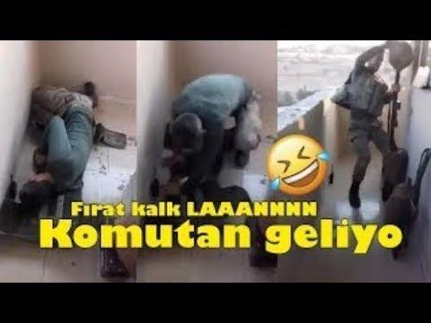 NÖBETTE UYUYAN ASKERE KOMUTAN GELİYOR ŞAKASI :)