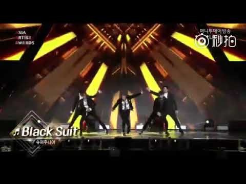 171115 2017 Asia Artist Awards - Super Junior Perform Black Suit