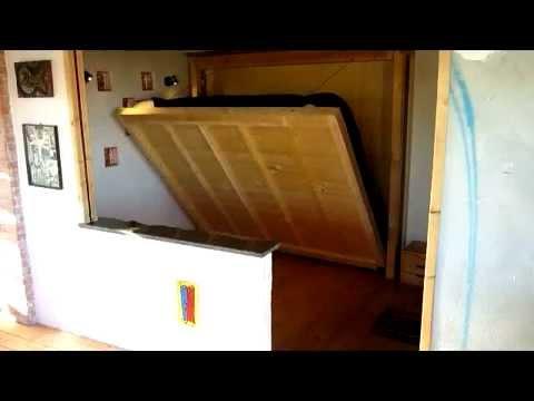 letto a muro motorizzato 1 - YouTube