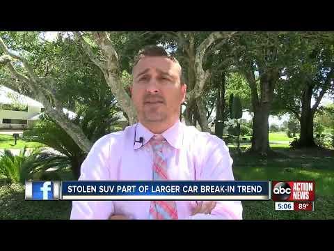 Stolen SUV part of larger car break-in trend