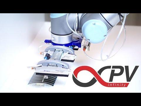Robotization of solar cell fabrication