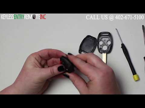 How To Replace Honda Accord Key Fob Battery 2003 - 2007