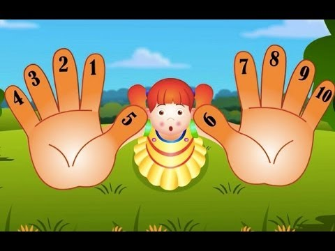Ten Little Fingers Nursery Rhymes  Counting Song For Children