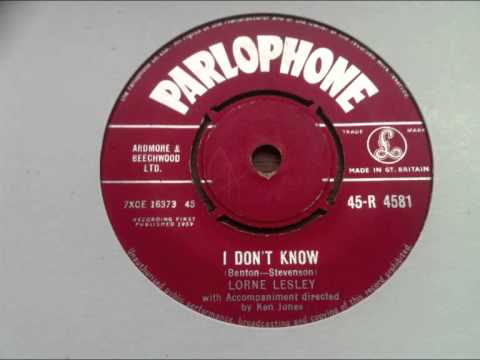 lorne lesley -  i don't know -  parlophone records