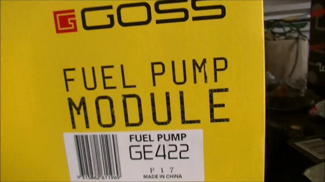 VE 2012 Series II Fuel Tank Removal & Pump, Fuel Control Unit