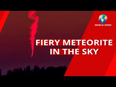 Fiery Meteorite in the Sky Over England / Cambridgeshire / World News / Space