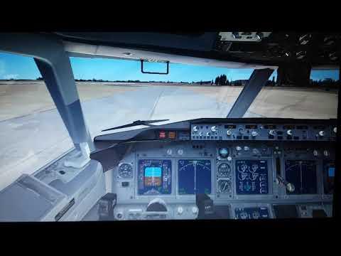 FSX: Siberia B767-300ER Taxiing to Tarmac after Landing at Narita(GREAT DEFAULT AIRPORT GRAPHICS)