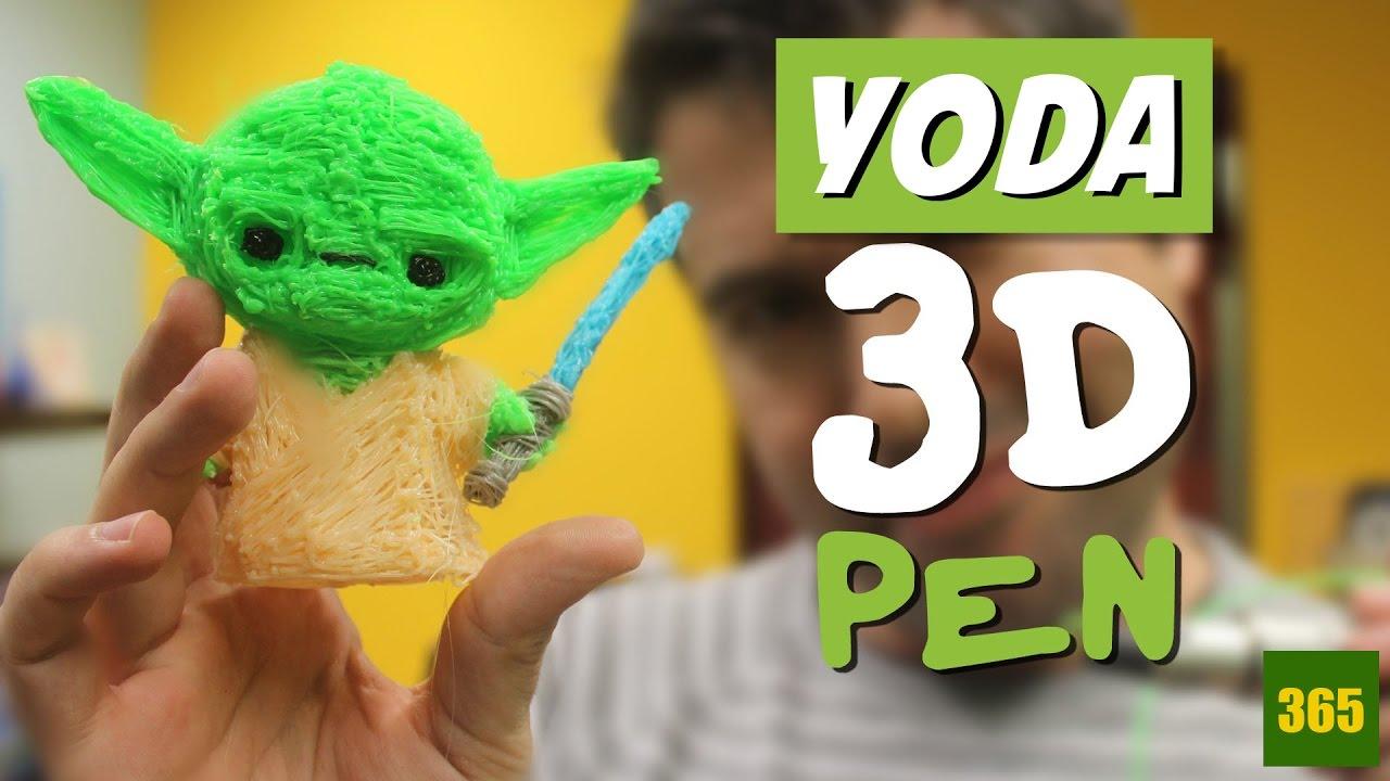 Dessiner Dans Les Airs Yoda Stylo 3d 3d Pen Crayon 3d Youtube