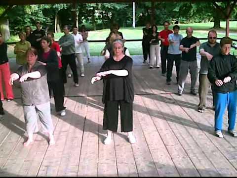 Su Hua Xiang Teaches Wu Dang Qi Gong in Germany
