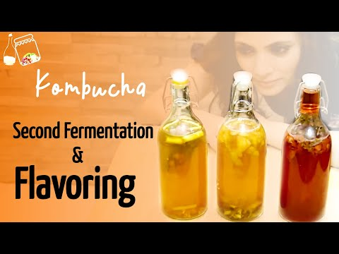 Kombucha Second Fermentation and Flavoring, Best Flavoring Recipe !!