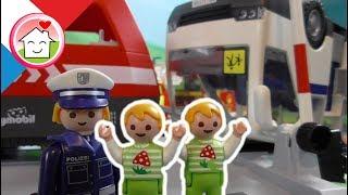 Playmobil en français L'accident de train - La famille Hauser