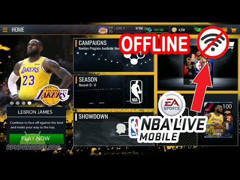 NBA LIVE MOBILE OFFLINE Android Gameplay (UPDATE)