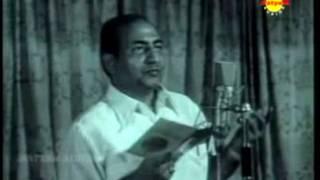 Man Re Tu - Rafi sahab Live Video