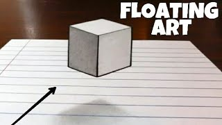 FLOATING CUBE | 3D ART ON PAPER | HOW TO DRAW