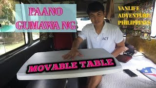 Gambar cover How to build Movable Table for Van Life, Dormitory, boarding house, tiny house, etc.