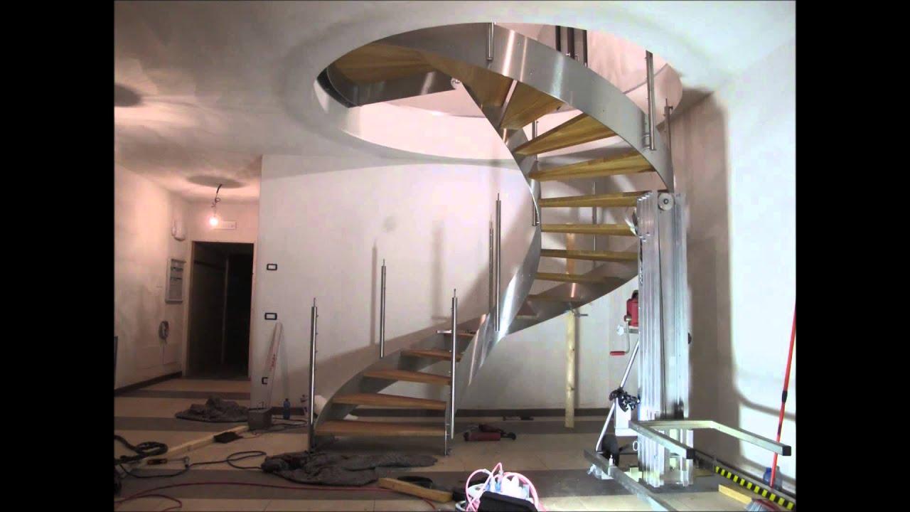 Installazione scala elicoidale in acciaio inox steely - Scale elicoidali in cemento armato ...