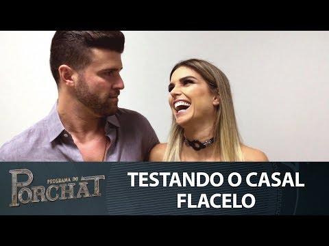 TESTANDO O CASAL FLACELO NO PROGRAMA DO PORCHAT