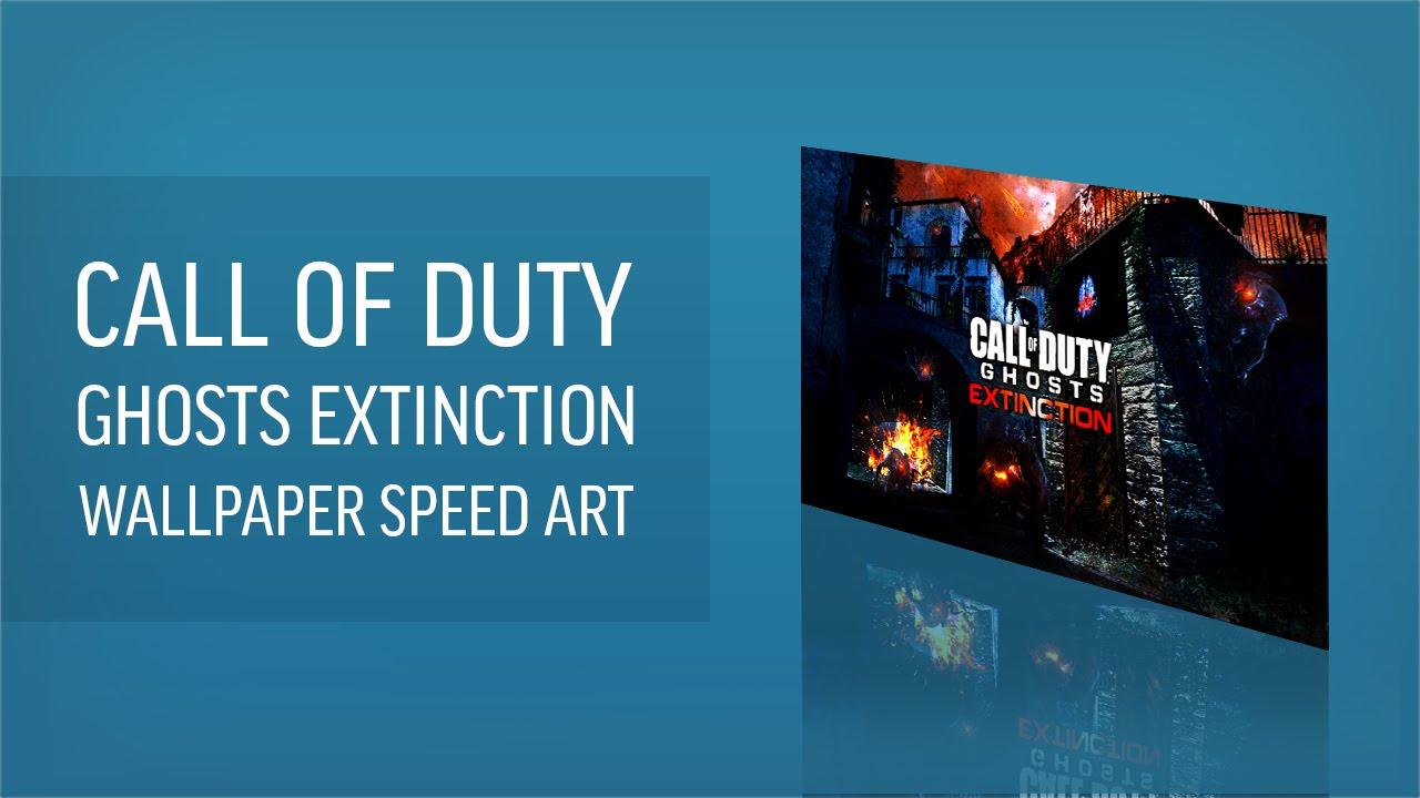 Call Of Duty Ghosts Extinction Desktop Wallpaper Speed Art Giveaway Youtube