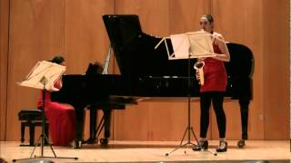 "Rudy Wiedoeft - Valse Vanité - ""Duo Aestus"" -Sabina Egea Sobral -Saxophon, Jung Youn Kum -Klavier-"