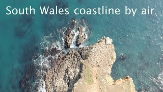 South Wales coastline by air - drone filming