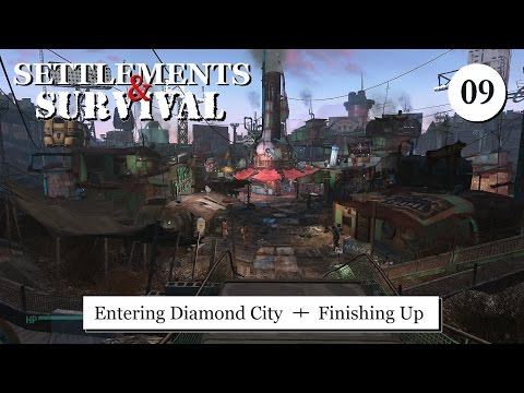 Settlements and Survival - Entering Diamond City and Finishing Up