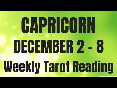 capricorn tarot december 8 2019