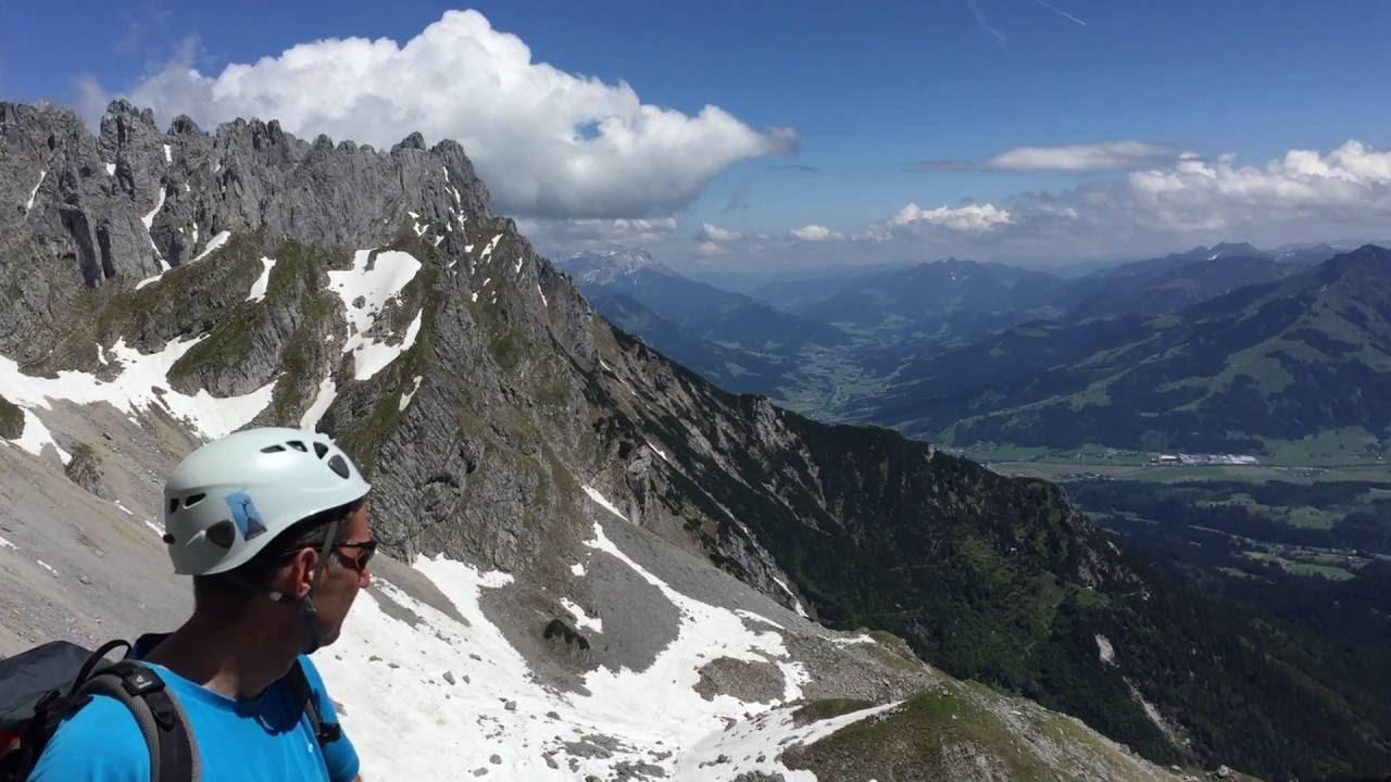 Klettersteig Ellmauer Halt : Klettersteig ellmauer halt gamsängersteig indebergen youtube