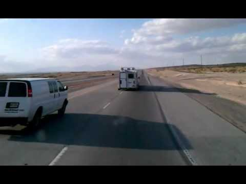 Driving on Interstate 10 East towards to El Paso, Texas.