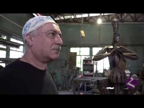 Сочинский художник по металлу Акоп Халафян (цикл