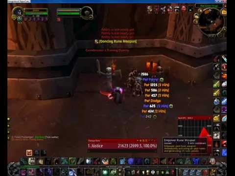 Death knight lvl 80 DPS test