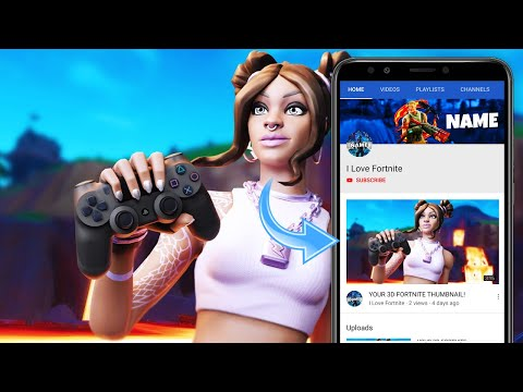 How to Make 3D FORTNITE THUMBNAILS (ANDROID/iOS) (EASY)