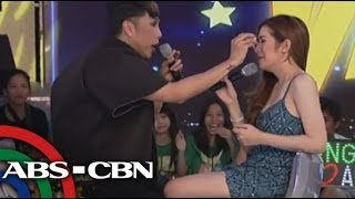 angeline quinto breaks into tears on ggv