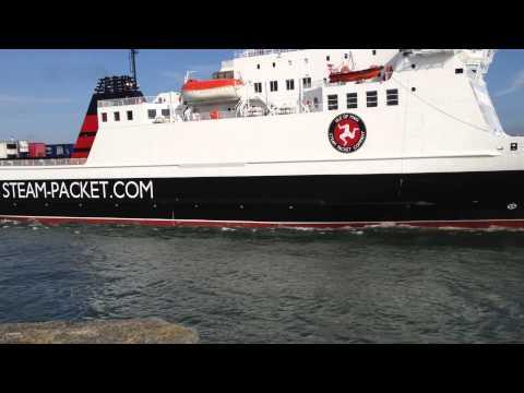 Ben-my-chree departs Douglas Harbour on Saturday 24 May 2014