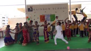 TELUGU PATRIOTIC DANCE PERFORMANCE BY RAINBOW KIDS MGLAYOUT