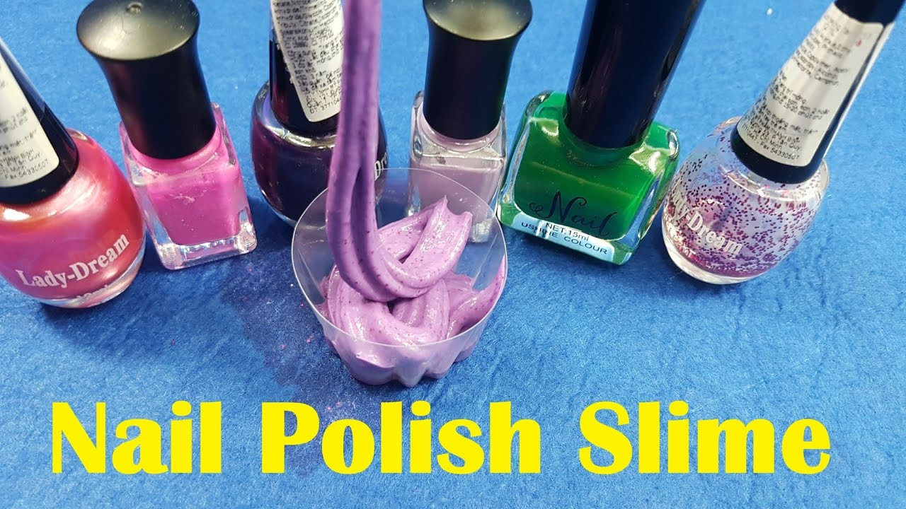 nail polish slime 2 ingredients